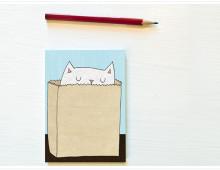 Katzen-Einkaufs-Erinnerungsblock
