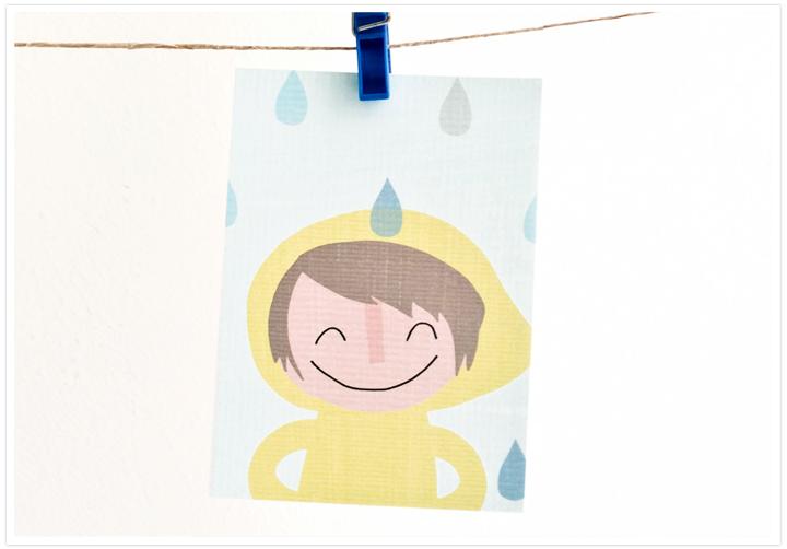 Postkarte-Regen-mit-Rand