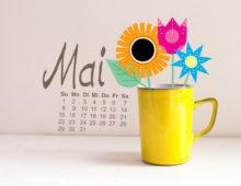Mai Wallpaper von little Print Store