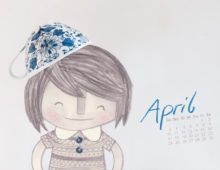 April Wallpaper von little Print Store