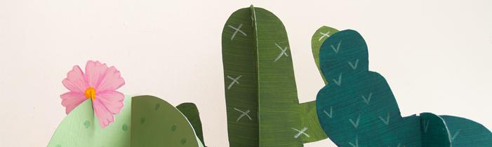 Stachelige Vorbereitungen für eine Kaktus Party