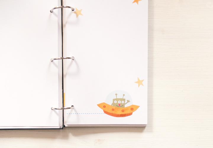 illustration-buch-notizbuch-geschichte-mlichstarße-planeten