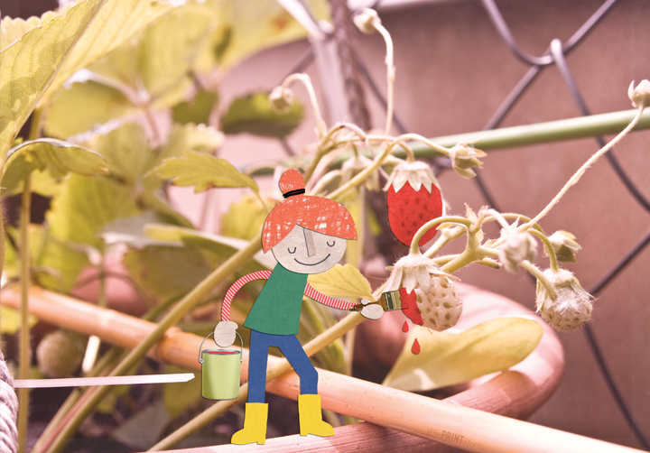 papeterie-postkarte-grußkarte-erdbeere