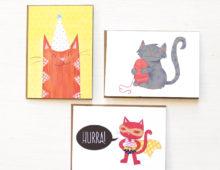 Katzenkarten zum Geburtstag