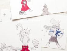 Märchenhafte Weihnachtskarten