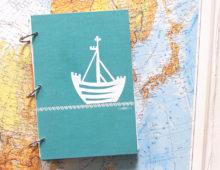 Seefahrt ein Recycling-Notizbuch