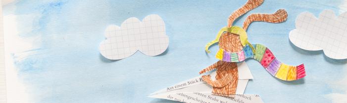 Ein Abenteuerhase im Papierflieger