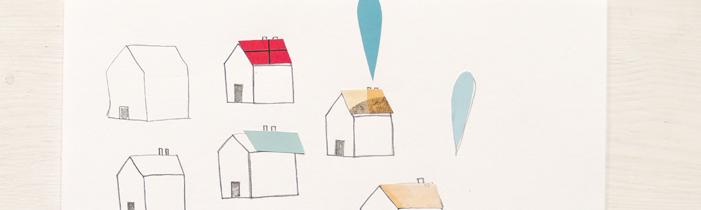 Kleine Hauscollagen, ein Recyclingbuchprojekt